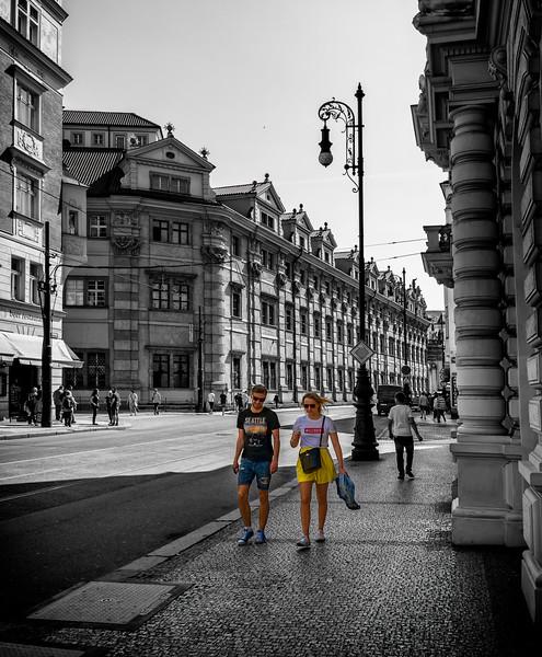 palatial Prague streets