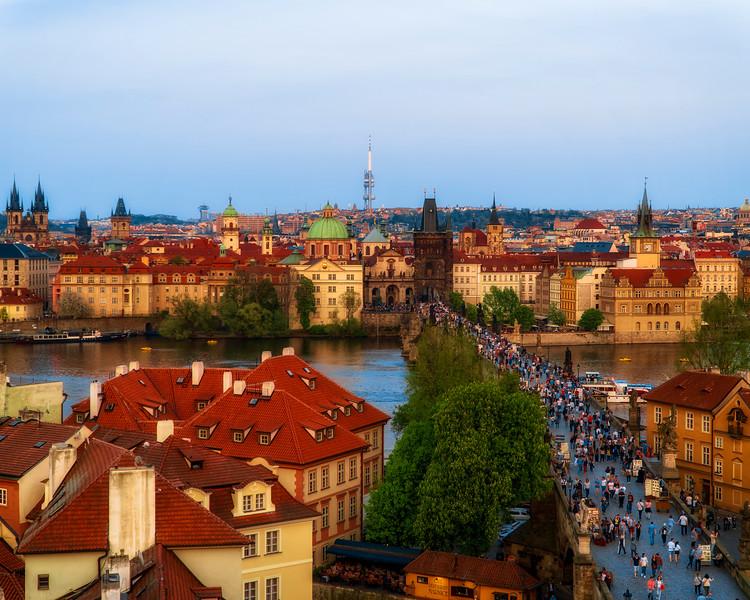 Charles Bridge into Old Town
