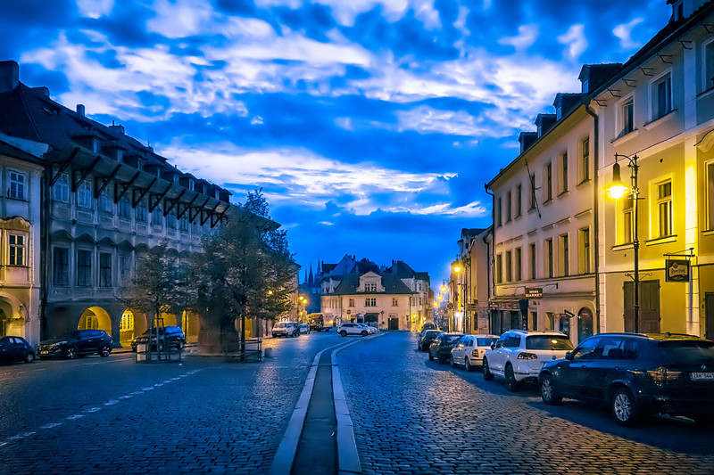 pre-dawn Prague