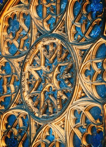 St. Vitus Cathedral facade glasswork