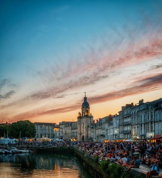 La Rochelle harbor and clock-tower
