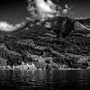 dotted shores of Lake Lucerne