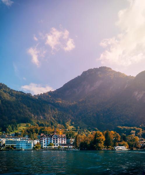 ferry view departing Vitznau