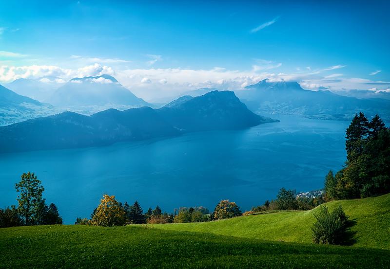 Mt. Rigi to Lake Lucerne views