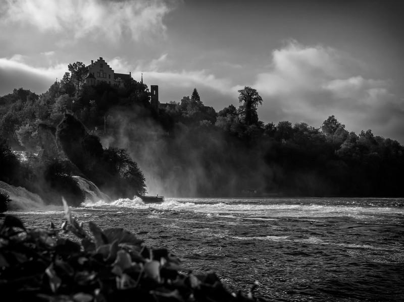 Rhine Falls into lower river