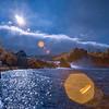 Rhine Falls infrared sunburst