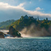 Rhine Falls into lower river