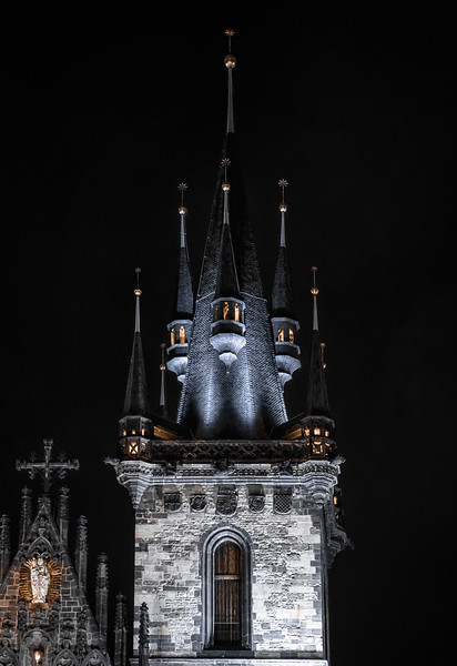 Tower at Church of Our Lady before Tyn