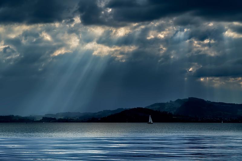 sky over Lake Zug