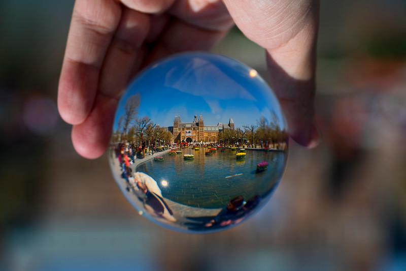 Rijksmuseum through glass