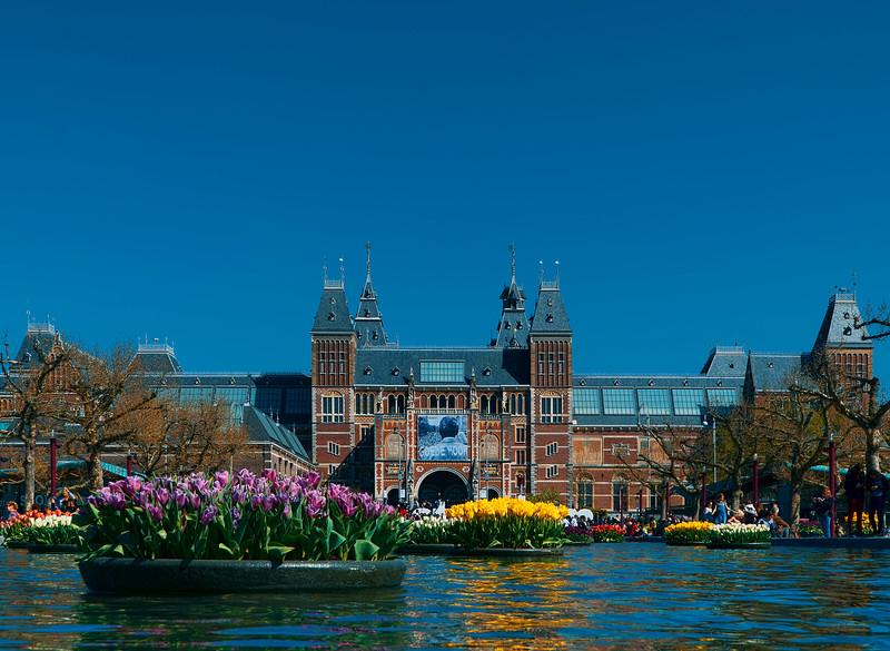 the Rijksmuseum reflection pond