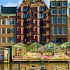 essence of Amsterdam - bicycles, canals, tulips, and brownstones