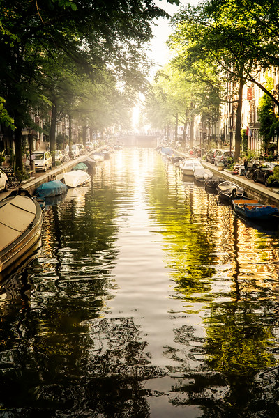 canal into sunset