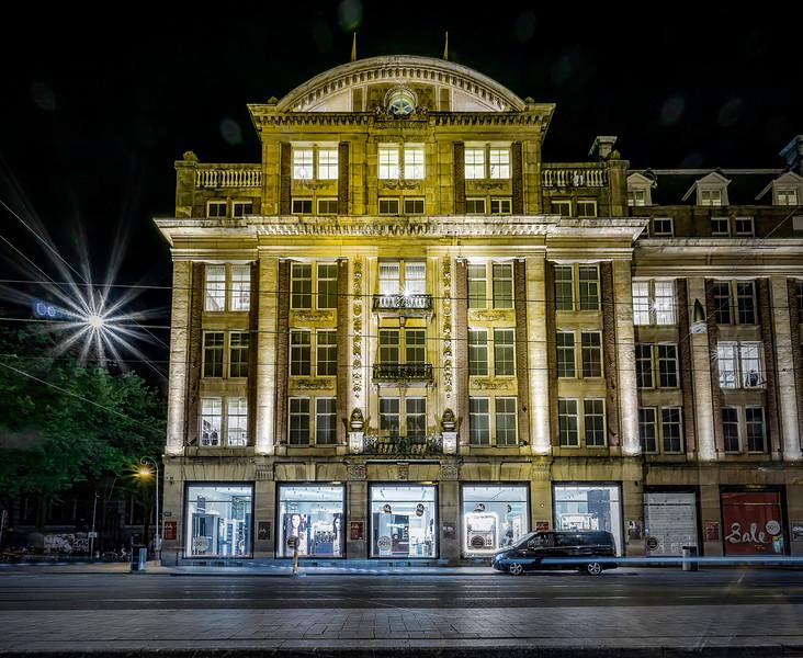 de Bijenkorf (dept. store) on Damrak street, Amsterdam