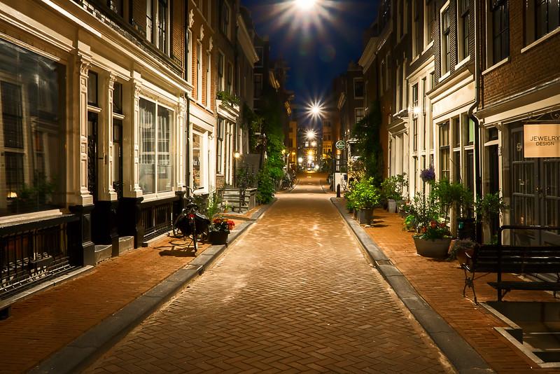 calmer side-streets of Amsterdam