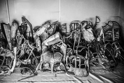 Body braces confiscated from Jewish prisoners