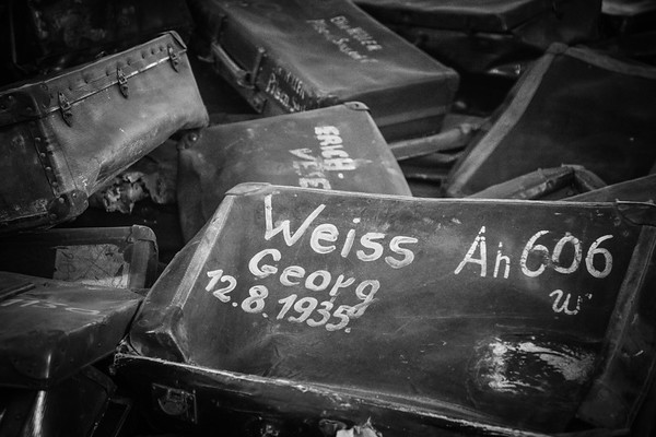 Suitcases confiscated from Jewish prisoners