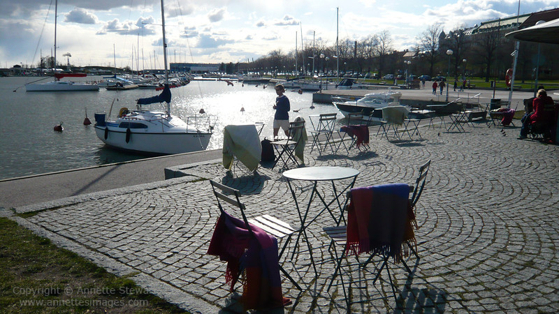 Helsinki - outdoor dining in a cold climate