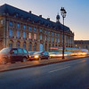 dusk traffic in Bordeaux