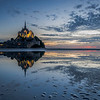 Last glow on iconic Mont Saint-Michel