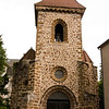 The church in the village of Chassagnes, Auvergne, France