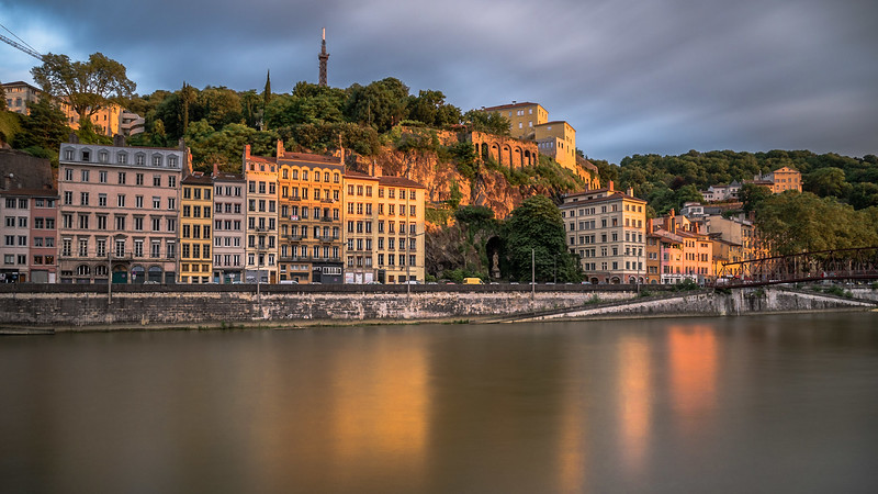 Quais de Saone at golden hour