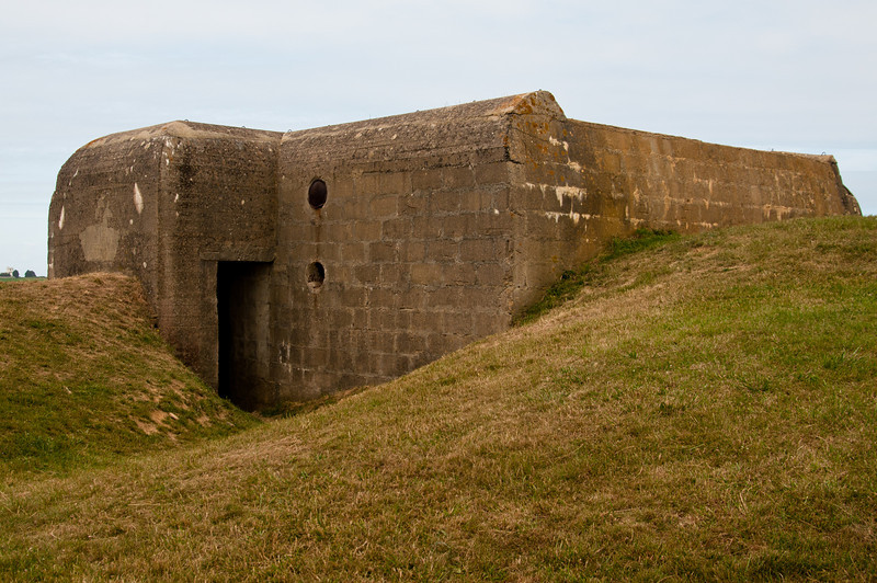 German bunker overlooking Omaha Beach.