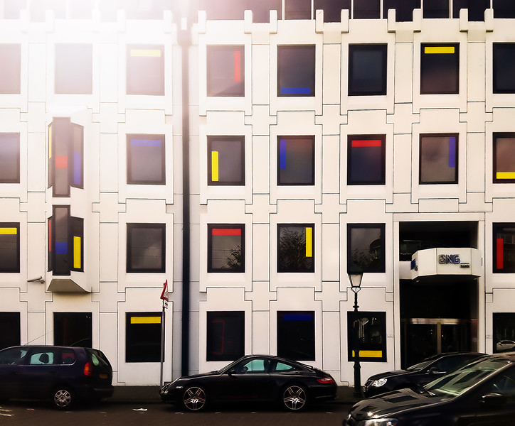 Mondrian accents everywhere in The Hague