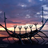 Solfarid (sun craft) Viking Boat sculpture, Reykjavik Iceland