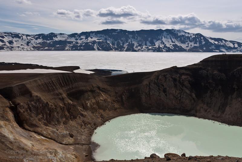 Lake Oskjuvatn, Askja crater, Iceland