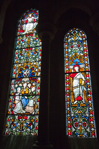 Stained glass windows, Christchurch Cathedral, Dublin.