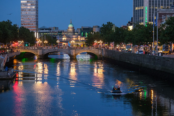 Blue hour, on the River Liffey, Dublin