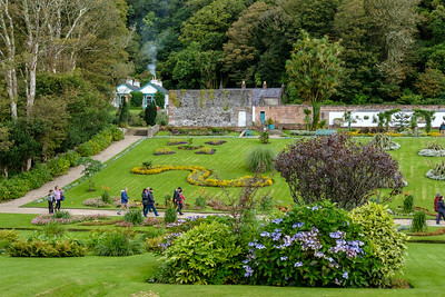 The beautiful gardens at Kylemore Abbey.