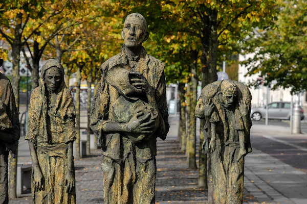 The Famine Memorial, commemorating the Great Famine of the mid 19th century.