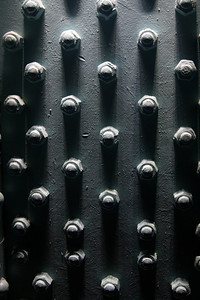 Bolts on steel beams, Guinness Brewery, St. James Gate, Dublin
