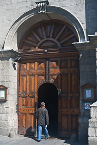Entrance Door to Trinity College, Dublin.