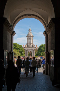 Looking into main courtyard of Trinity College, Dublin.