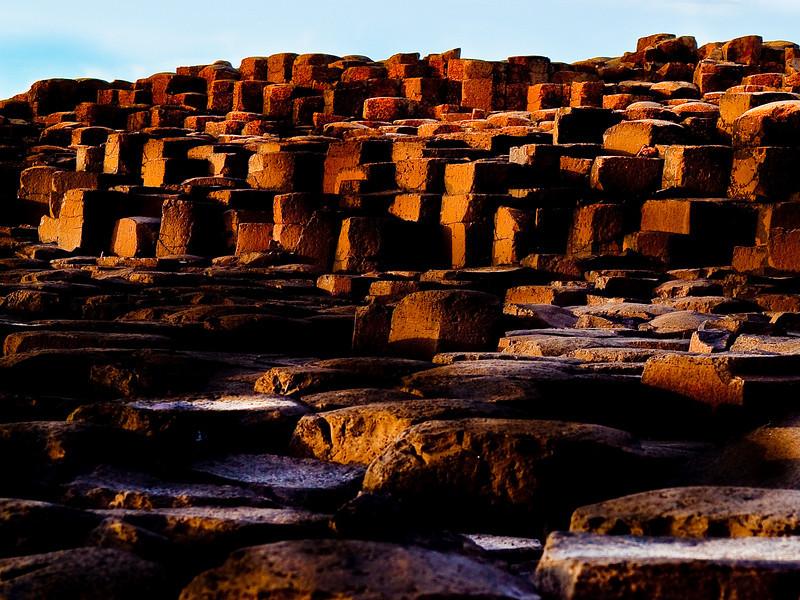 Columnar basalt, Giant's Causeway, <br /> near Coleraine, Northern Ireland. <br /> Photos © Sean Murphy 2010.