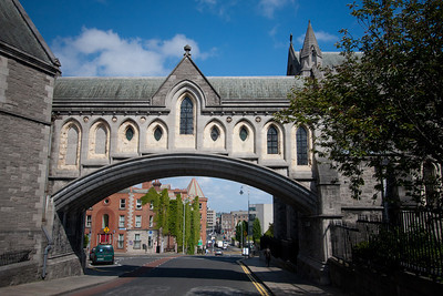 Bridge linking Christchurch Cathedral to Dublinia.  Christchurch is definitely worth a look; Dublinia isn't.