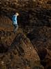 Kevin Murphy sitting on columnar basalt<br /> Giant's Causeway<br /> near Coleraine, Northern Ireland<br /> Saturday evening, 5 June 2010<br /> Photo © Sean Murphy 2010