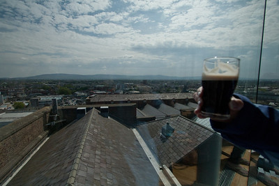 Perfect day, perfect half-pint.  Slainte! Guinness Brewery, St. James Gate, Dublin