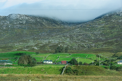 From the passenger side, on the way to Kylemore Abbey.