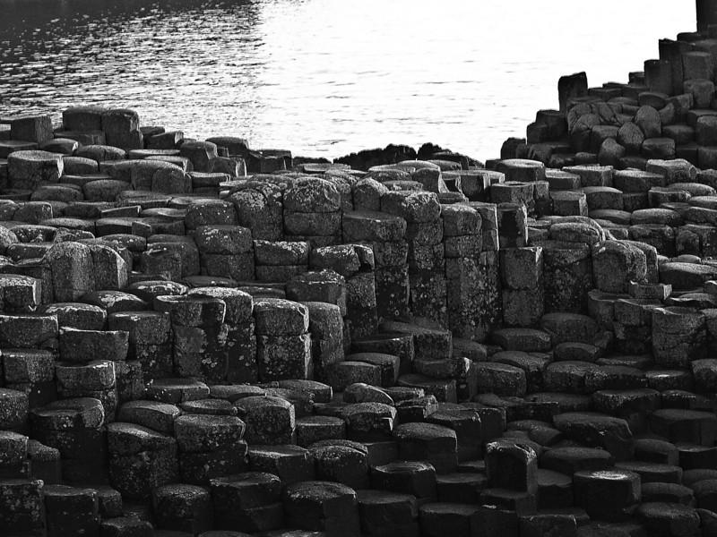 Columnar basalt, Giant's Causeway, <br /> near Coleraine, Northern Ireland<br /> Saturday evening, 5 June 2010<br /> Photo © Sean Murphy 2010