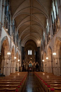 Interior, Christchurch Catherdral.  Strongbow's tomb to the right.