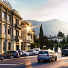 evening traffic in Como