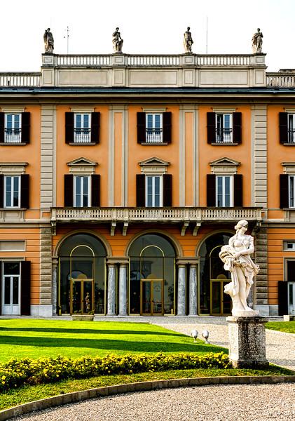 Beautiful villas dot the shoreline of Lake Como