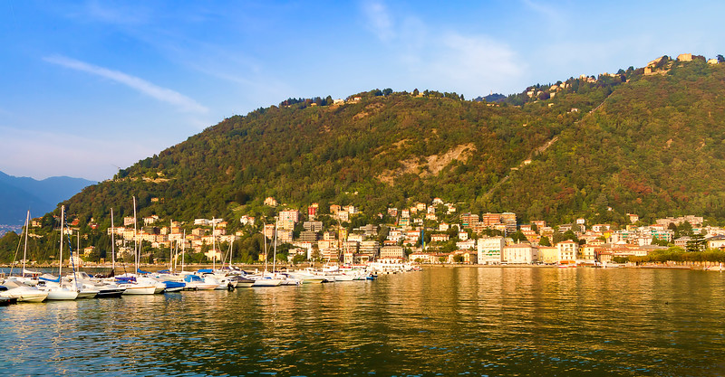 our first view of Lake Como