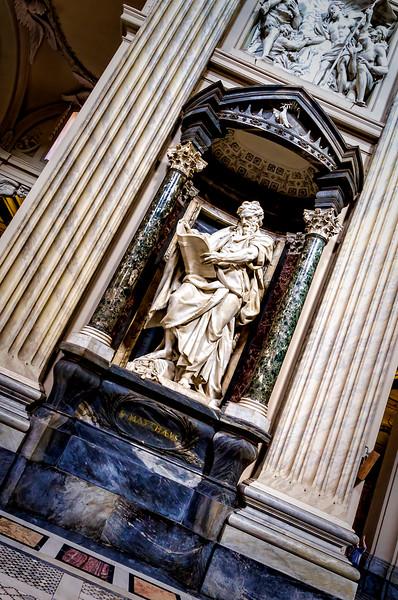 St. Matthew, by Rusconi (Archbasilica San Giovanni in Laterano)