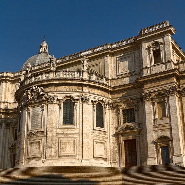 Piazza dell'Esquilino and apse of Santa Maria Maggiore