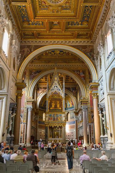Archbasilica of St. John Lateran (San Giovanni in Laterano). 14th century gothic baldacchino.
